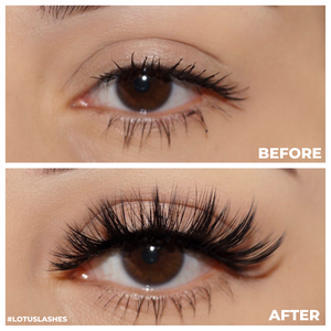 no. fx26 faux mink lashes false eyelashes before and after lotus lashes