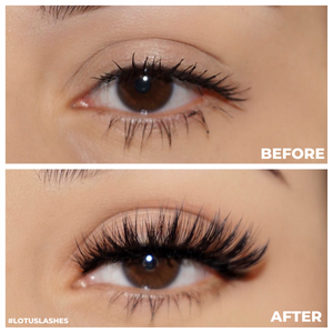no. fx31 faux mink lashes false eyelashes lotus lashes before and after