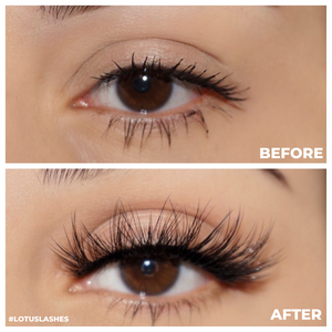 no. fx32 faux mink lashes false eyelashes lotus lashes before and after