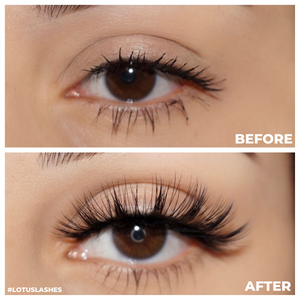 No. FX3 faux mink lashes vegan lotus lashes before and after