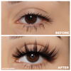 No. FX4 faux mink lashes vegan lotus lashes before and after