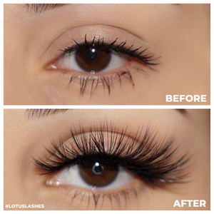 No. FX6 faux mink lashes vegan lotus lashes before and after