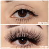 goddess 25 mm faux mink lashes false eyelashes lotus lashes before and after