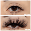 pin-up 25 mm faux mink lashes false eyelashes lotus lashes before and after