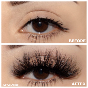 Princess Cut Mink Lashes 3d mink lashes Diamond Series before and after false eyelashes Lotus Lashes