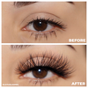 siren 25 mm faux mink lashes false eyelashes lotus lashes before and after