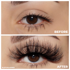 afterglow 25mm extra mink lashes false eyelashes before after