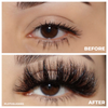 afterglow 25mm fame mink lashes false eyelashes before after