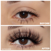 finesse 3d mink lashes false eyelashes afterglow lotus lashes before and after