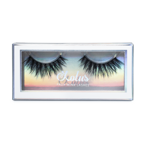 No. FX1 faux mink lashes vegan lotus lashes in packaging