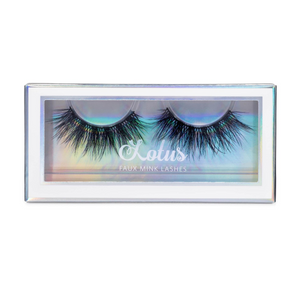 No. FX32 faux mink lashes vegan lotus lashes in packaging