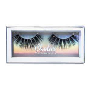 No. FX5 faux mink lashes vegan lotus lashes in packaging