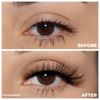 afterglow colored mink lashes glitch light brown lotus lashes before and after