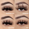 lotus lashes glitz and glamour mink lashes false eyelashes bundle swatches