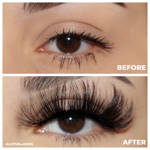 afterglow 25mm go off mink lashes false eyelashes before after