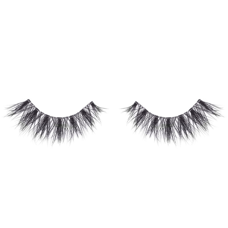 no. 121 3D invisible band mink lashes wispies luxury lashes lotus lashes clear band front