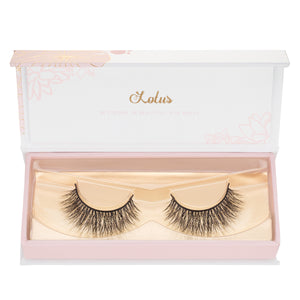 no. 325 mink lashes luxury lashes lotus lashes in packaging
