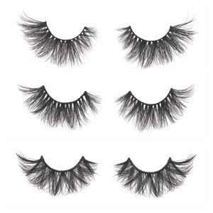 Lotus Lashes Diamond Series Collection Set 3D mink lashes extra long mink lashes false eyelashes out of packaging
