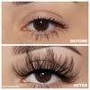 marquise diamond series 25mm mink lashes false eyelashes lotus lashes before and after