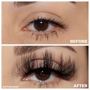 afterglow 25mm my way mink lashes false eyelashes before after