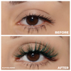 afterglow colored mink lashes rich bish green light brown false eyelashes lotus lashes before and after