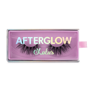 royalty 3d mink lashes false eyelashes afterglow lotus lashes in packaging