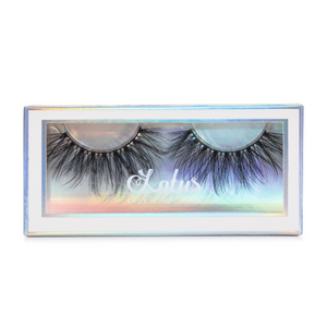 Seductive faux mink lashes vegan lotus lashes in packaging