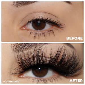 afterglow 25mm shade mink lashes false eyelashes before after