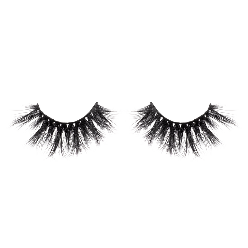 Shook 3d mink lashes false eyelashes afterglow lotus lashes out of packaging