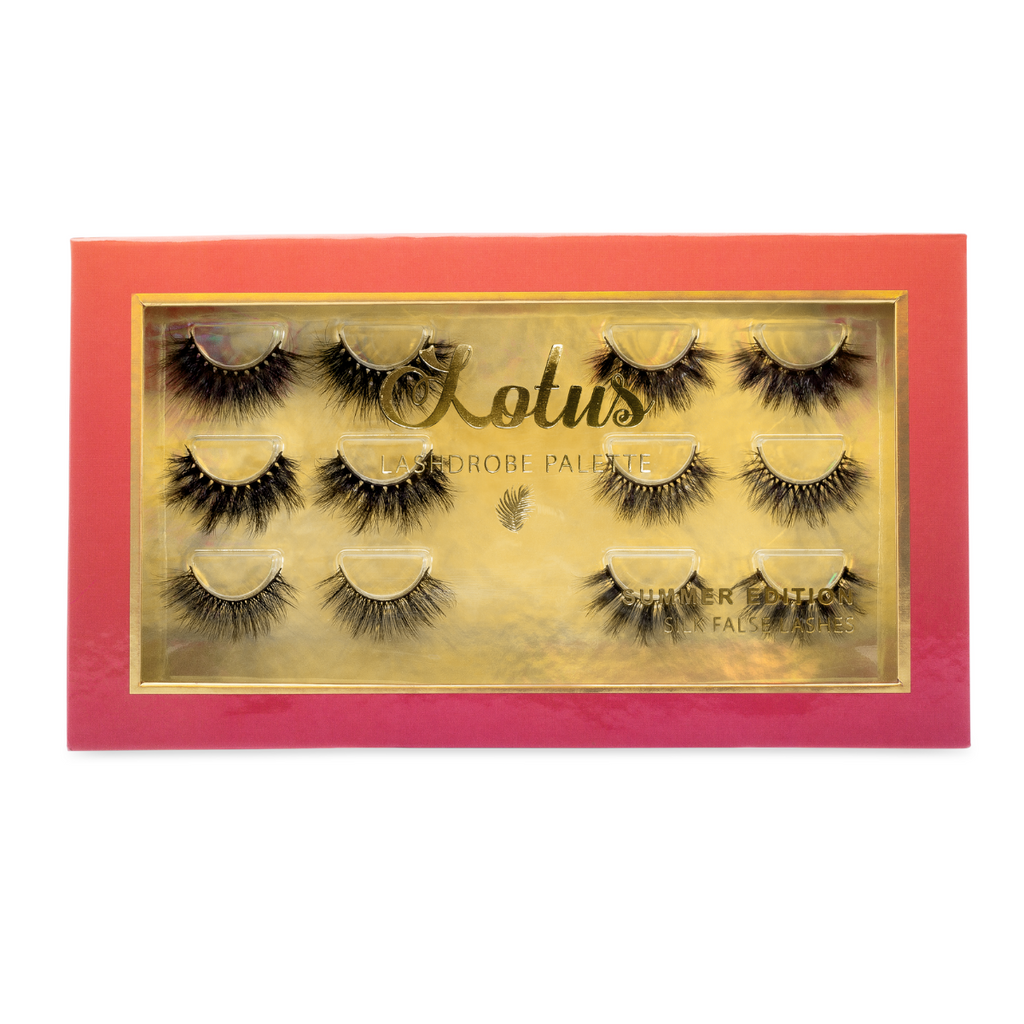 summer lashdrobe palette silk false eyelashes faux mink lashes lotus lashes