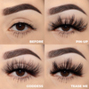 the naughty set 25 mm faux mink lashes false eyelashes lotus lashes swatches