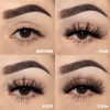 the nice set faux mink lashes false eyelashes lotus lashes swatches