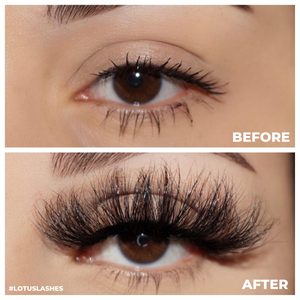 afterglow 25mm tokyo mink lashes false eyelashes lotus lashes before after