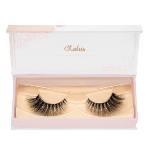 xoxo mink lashes false eyelashes lotus lashes invisible band in packaging