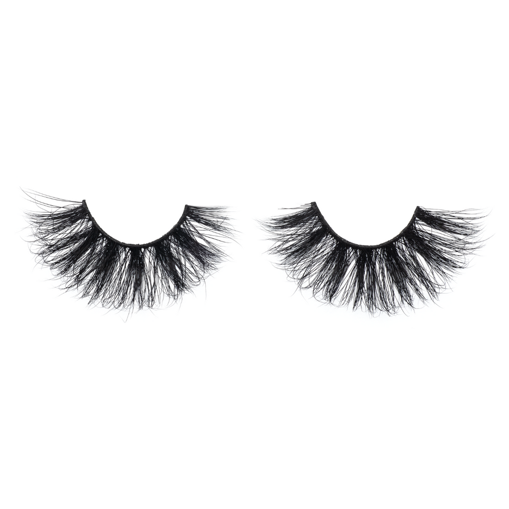 afterglow 25mm extra mink lashes false eyelashes out of packaging