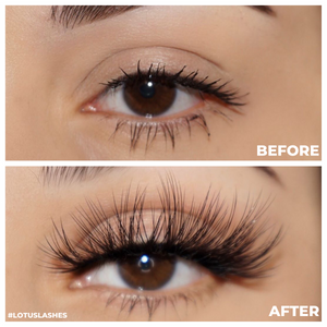 femme fatale 25 mm faux mink lashes false eyelashes lotus lashes before and after