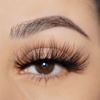 femme fatale 25 mm faux mink lashes false eyelashes lotus lashes close up