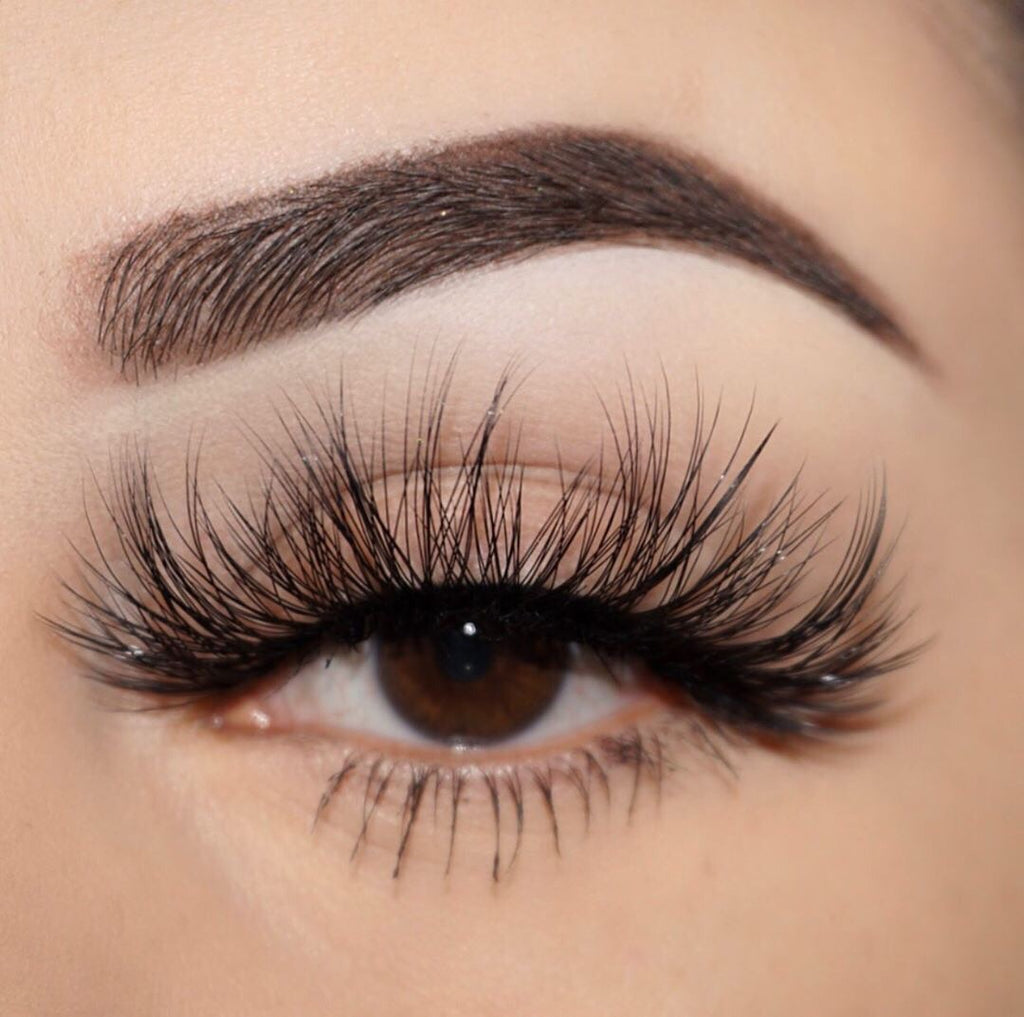 seductive 25 mm faux mink lashes false eyelashes lotus lashes close up