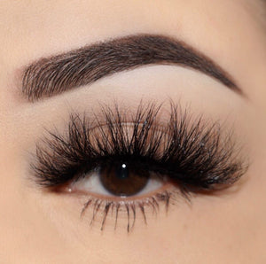 Princess Cut 3D Mink Lashes Diamond Series close up false eyelashes Lotus Lashes