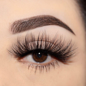 goddess 25 mm faux mink lashes false eyelashes lotus lashes close up