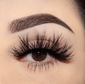 vixen 25 mm faux mink lashes false eyelashes lotus lashes close up