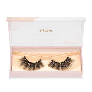 no. 308 3D mink lashes luxury lashes lotus lashes in packaging