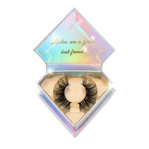 Princess Cut Mink Lashes 3d mink lashes Diamond Series in packaging false eyelashes Lotus Lashes