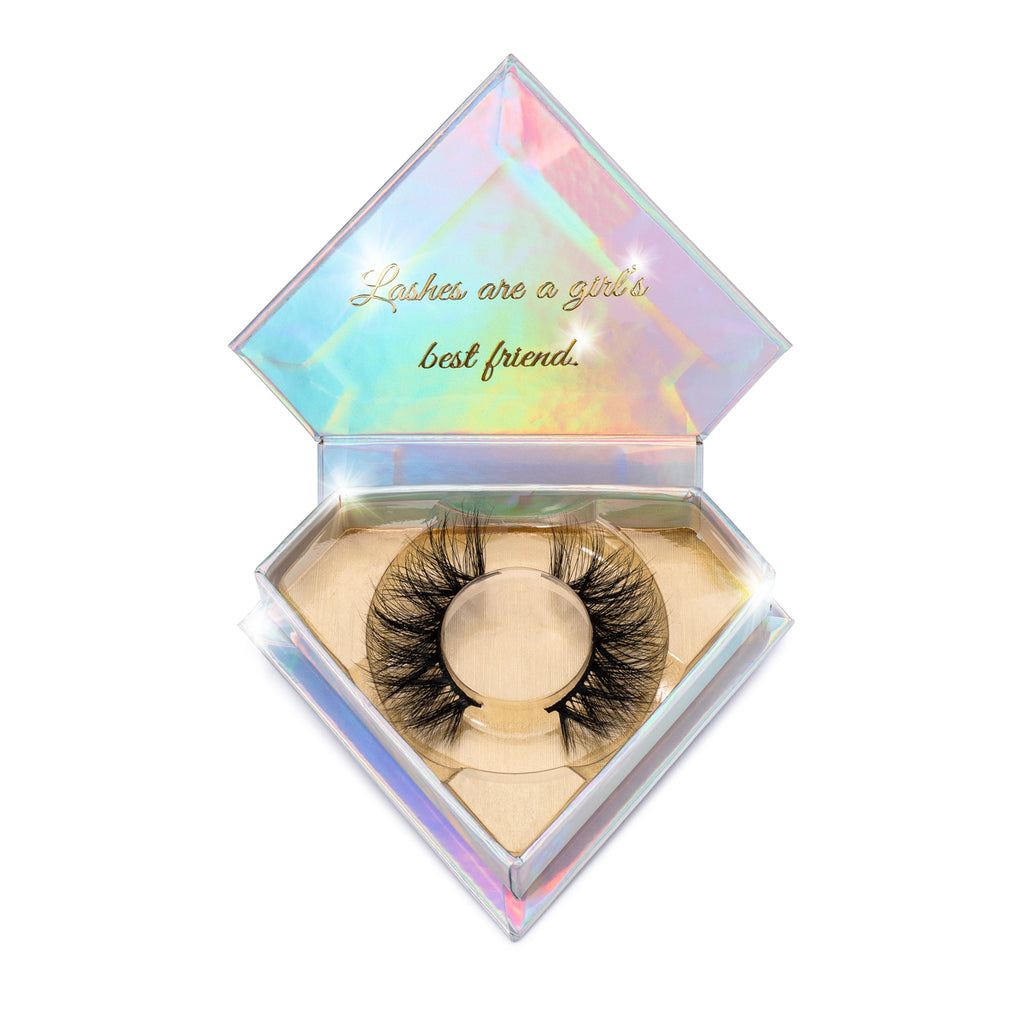VVS 3D Mink Lashes Diamond Series in packaging false eyelashes Lotus Lashes