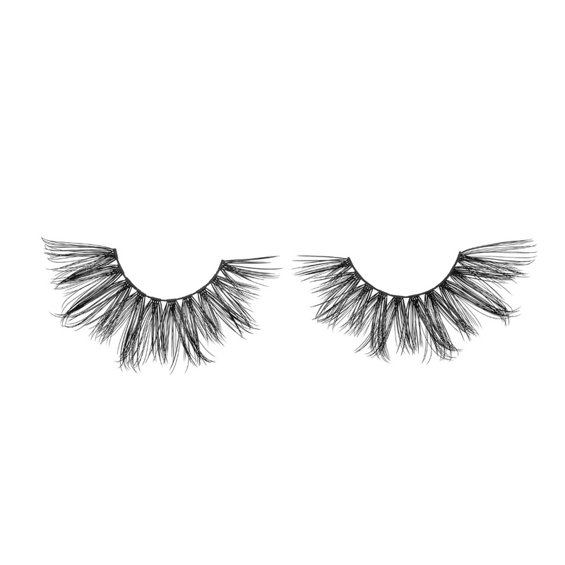 pin-up 25 mm faux mink lashes false eyelashes lotus lashes out of packaging