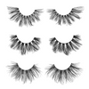 the naughty set 25 mm faux mink lashes false eyelashes lotus lashes out of packaging