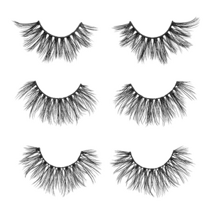 the nice set faux mink lashes false eyelashes lotus lashes out of packaging