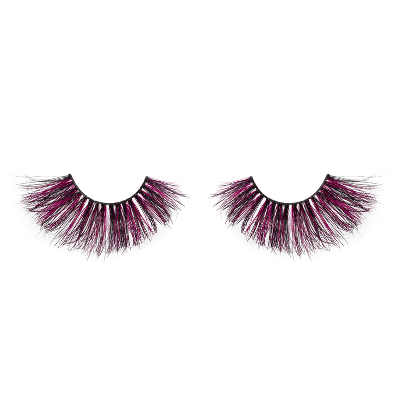 afterglow toxic 25mm colored mink lashes purple false eyelashes lotus lashes