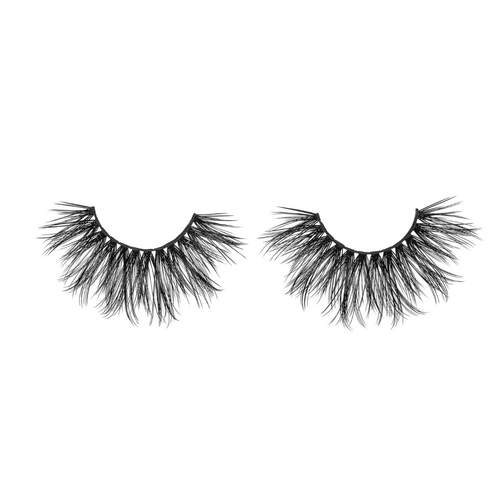 vixen 25 mm faux mink lashes false eyelashes lotus lashes out of packaging