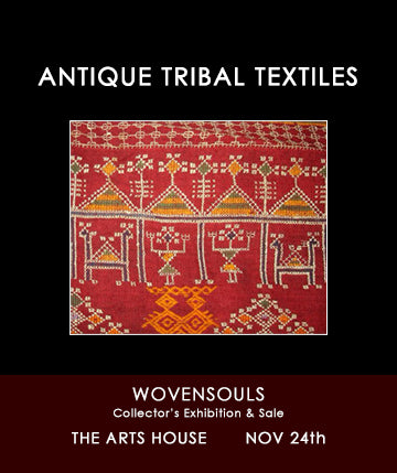 ANTIQUE TRIBAL TEXTILES AS WALL ART